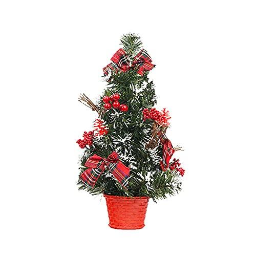 Desktop Mini Christmas Tree Christmas Decoration Set 40cm Mini Desktop Decoration Tree for Home Office Shopping Bar, Small Christmas Tree with Lights