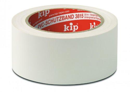 3 Rollen kip PVC-Schutzband 3815-55 weiß 33 m x 50 mm glatt