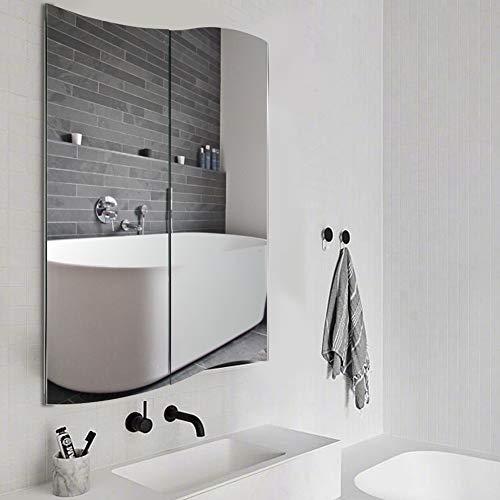 Wavy Design Medicine Cabinet with Mirror Stainless Steel