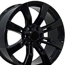 OE Wheels 22 Inch Fits Chevy Silverado Tahoe GMC Sierra Yukon Cadillac Escalade CA82 Gloss Black 22x9 Rim Hollander 5409