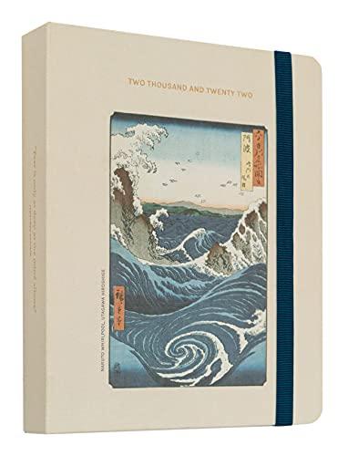 Kokonote Agenda Settimanale 2021 2022 Japanese Art Premium Edition, 17 mesi da agosto 2021 a dicembre 2022, adatto per scuola, lavoro e tempo libero, 20x16,5 cm, copertina foderata in tessuto