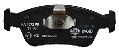 HELLA PAGID 8DB 355 008-741 Bremsbelagsatz, Scheibenbremse, Vorderachse