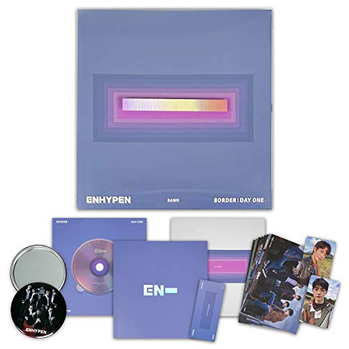 ENHYPEN Debut Album - BORDER : DAY ONE [ DAWN ver. ] CD + Photobook + Clear Story Cover + Book Mark + Post Cards + Photo Cards + OFFICIAL POSTER + FREE GIFT