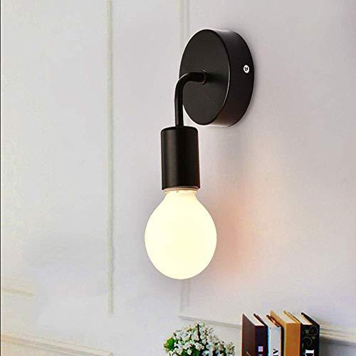 Hogreat Lámpara de Pared Country Retro Fashion Simple Creative Lámpara de Pared Pasillo Escaleras, Lámpara de Pared de Hierro Forjado LED 1 * (10 * 17CM)