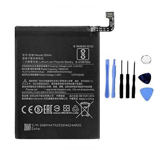 Ellenne Batería compatible con Xiaomi Mi Redmi Note 5/5 Pro Plus BN44 de alta capacidad 4000 mAh con kit de desmontaje incluido