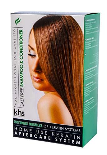 Keratin Hair System Achterzorging zout vrij shampoo en verzorgende spoeling