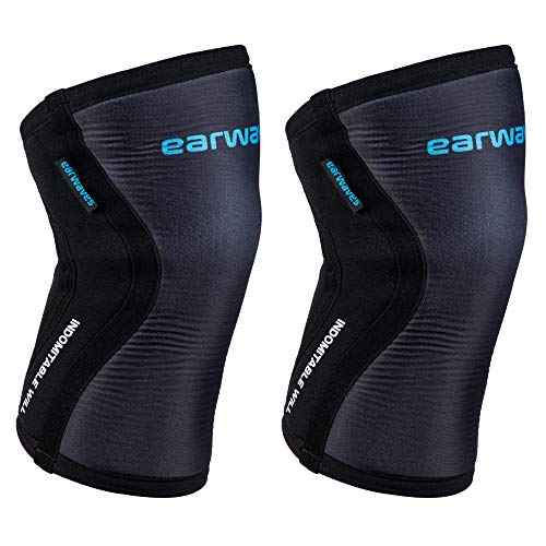 Earwaves ® Shield Knee Sleeves - Paar 5mm & 7mm Neopren Kniebandage. Knieschoner für Crossfit, Gewichtheben, Weightlifting, Squats, Lunges.