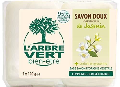 L'arbre vert Savon Solide Jasmin 2 x 100 g