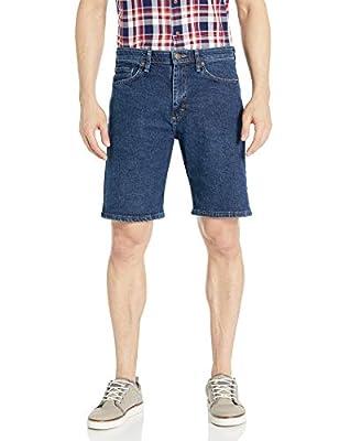 Wrangler Authentics Men's Comfort Flex Waistband Short, dark stonewash, 36