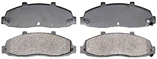 ACDelco Silver 14D679M Semi-Metallic Front Disc Brake Pad Set with Wear Sensor
