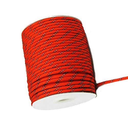 DIDA Zeltzubehör 4 mm Durchmesser Reflective String windundurchlässiges Tent Seil Guy Linie for Camping Seil-Farbe: 50 Meter