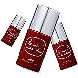 Le Mini Macaron • Vernis à Ongles UV 3 en 1 • Nail Gel Semi-Permanent • Séchage LED • Cassis Couleur Rouge Bordeaux • 10ml