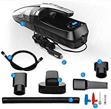 GYFXDXCQ Car Cleaners Car Air Pump with A Powerful Dedicated Wireless Charging Car Home Dual-use High-Power Quad dust Bust...