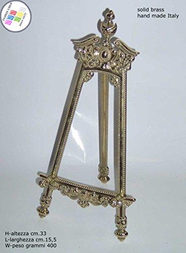 Présentoir reggipiatto chevalet baroque laiton H. cm.33 pour assiettes de collection