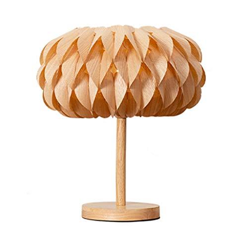 Massivholz-Tischlampe kreative romantische Hauptdekor Tischlampe for Schlafzimmer Wohnzimmer Study (Color : Lotus Style)