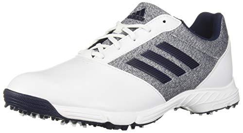 adidas Womens TECH Response Golf Shoe, White/Silver Metallic/Indigo, 6.5 M US