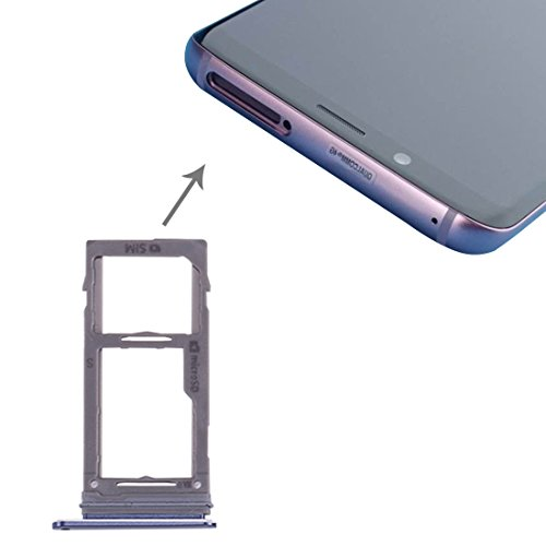 Todayday Easy Replacement Tool Replace/Replacement SIM & Micro SD Card Tray for Galaxy S9+ / S9(Black) (Color : Blue)