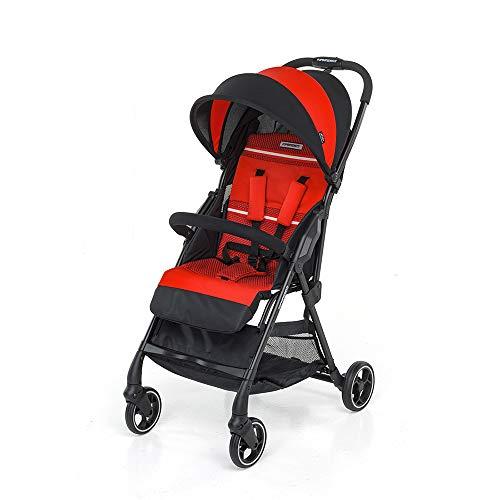 Foppapedretti 9700345203 leichter Top4 Kinderwagen, leicht und kompakt, Rot (rot)