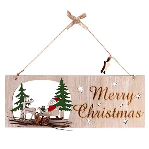 TOYANDONA Plaque en bois avec inscription « Joyeux Noël » - Décoration de Noël rustique - Décoration d'intérieur et d'extérieur