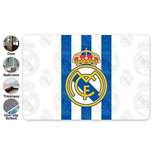 Zerbini in flanella da Calcio BLU e Bianco Real Madrid tappetino antiscivolo tappeti bagno Camera da letto decorativi per la casa