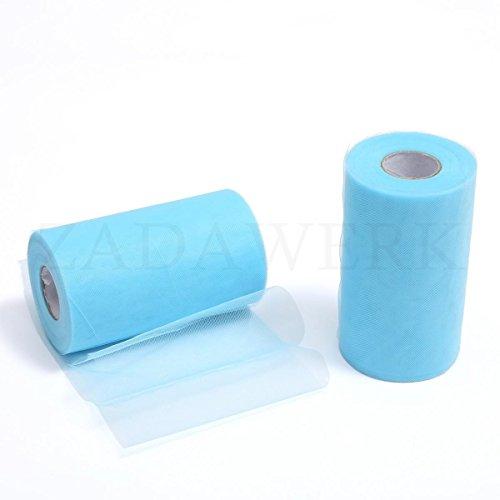 ZADAWERK® tulle - 15 cm x 45 m - azzurro - 1 rotolo
