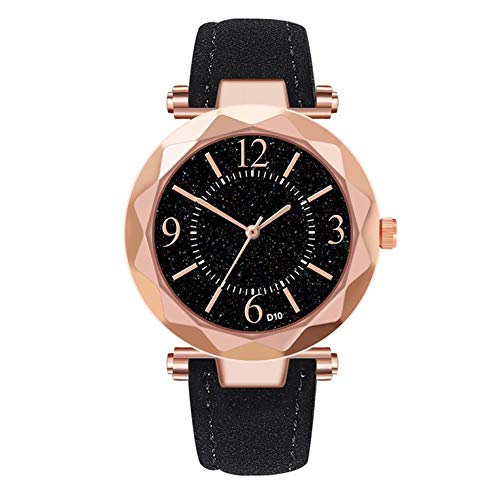 D10-B moda casual señoras reloj de cuarzo correa de cuero reloj de cuarzo personalidad salvaje mujeres reloj mejor regalo