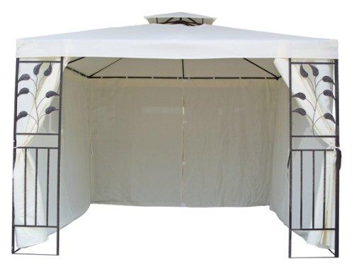 4 Seitenteile für Metall Pavillon beige