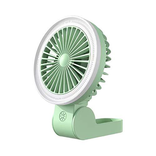 UINGKID Kleiner Ventilator Faltbar Kann um den Hals gehängt Werden tragbar Multifunktion Licht füllen Ventilator