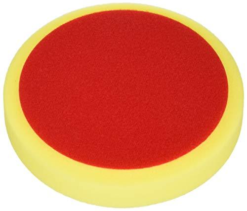 ALCLEAR 5516030M Schleifpad, Auto Polierschwämme, medium, Durchmesser : 160x30 mm, gelb,2er Set, Polierpad polieren Pad Schwamm Polierschaum f. Poliermaschine