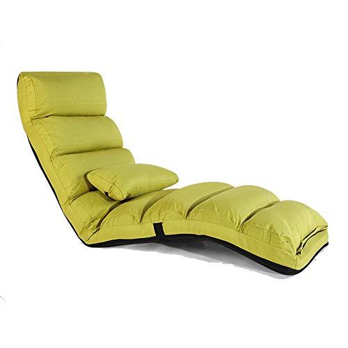 zzx Chaise Longue Transat Jardin Rocking Chair Bois Rides canapé Chaise élégante Chaise canapé-lit Paresseux, réglable (Couleur, Rouge foncé) en 5 étapes,Green Grass