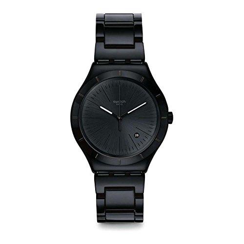 Swatch Reloj Analogico para Hombre de Cuarzo con Correa en Acero Inoxidable YWB404G