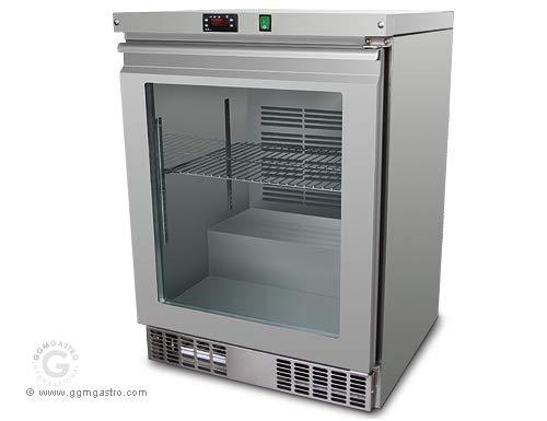 Unterbau Tiefkühlschrank 110 Liter - mit Glastür