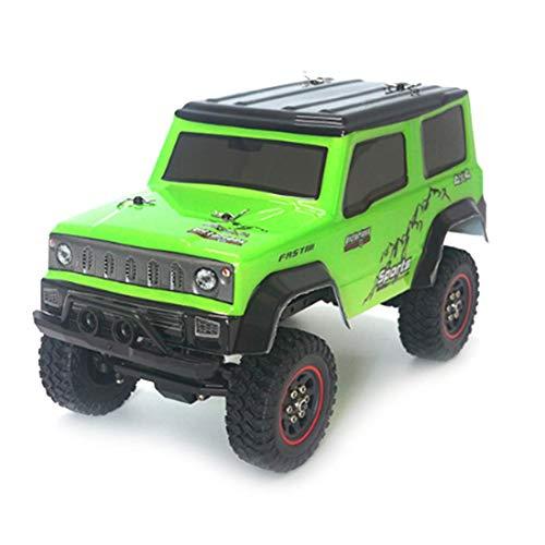 ZHANGYY 1/18 2.4G RC RC Car Crawler Modelo de vehículo de Escalada Camiones de Alta Velocidad Camiones Todoterreno Juguetes Verde