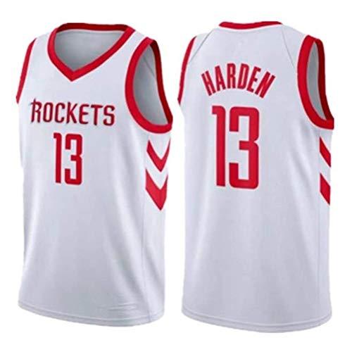 Rencai James Harden Jersey # 13 del Baloncesto de los Hombres, Houston Rockets Nueva Tela Alero sin Mangas de la Camisa de los Jerseys (Color : 2, Size : XS)