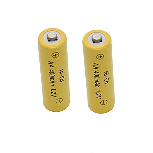 Solar Light AA Ni-cd 400mah Rechargable Batteries for Solar Lights (Pack of 12)