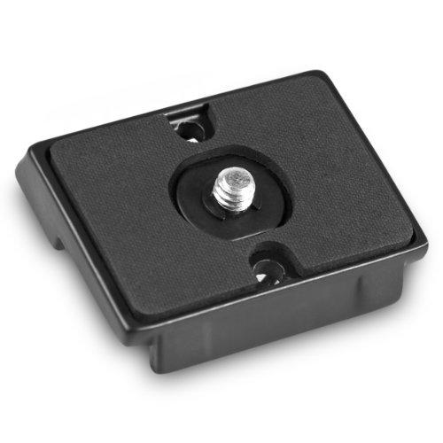 Mantona Scout Schnellkupplungsplatte für Stativ aus Aluminium