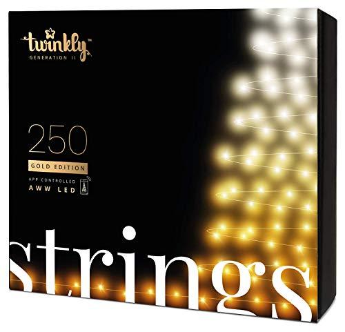 Twinkly - Edición Gold Tira de 250 Luces LED Blanco y Ámbar...