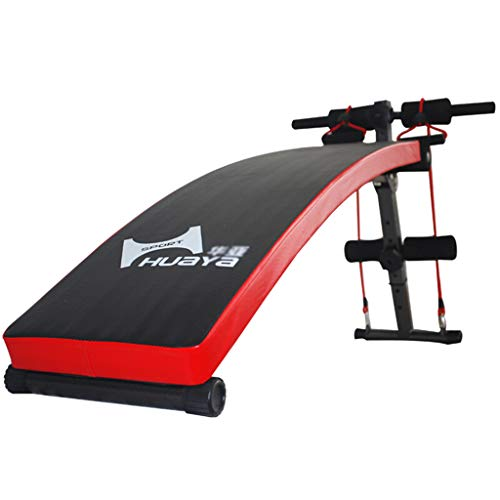 Sit-up board Tavola supina Multifunzione/Dispositivo Addominale, Attrezzatura per Home Fitness, Rosso Nero
