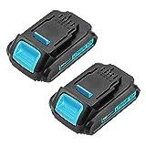 Replacement for Dewalt 20v Battery for Dewalt DCB204 DCB205 DCB206 DCB205-2 DCB200 DCB180 DCD985B DCD771C2 DCS355D1 DCD790B 2.5AH 2-Pack