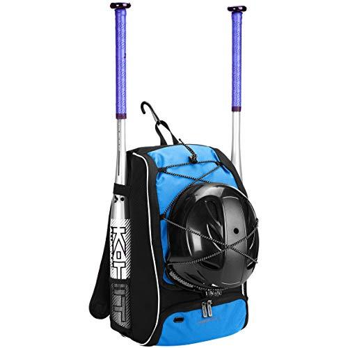 Amazon Basics - Mochila juvenil para equipo de béisbol, Azul marino