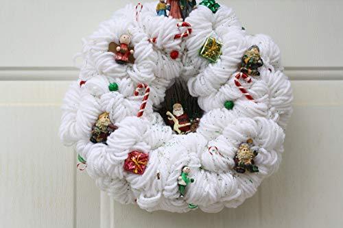 9' Homemade White Wreath