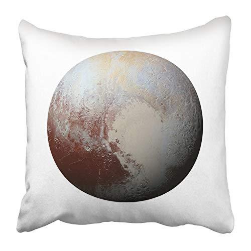 AEMAPE Fundas de Almohada Sistema Solar Marte Azul Planeta Plutón en Blanco Esta Funda de cojín amueblada NASA Mercurio Saturno Neptuno Espacio 40X40 cm