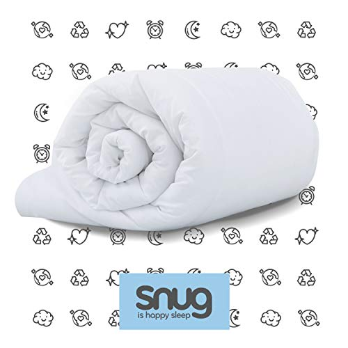 Snug Chill out-Edredón para Cama Individual (4,5 TOG), Blanco, Suelto