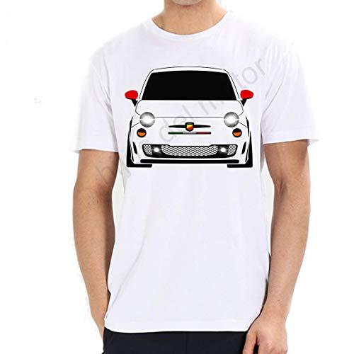 Camiseta fiat 500 Abarth (Blanco, S)