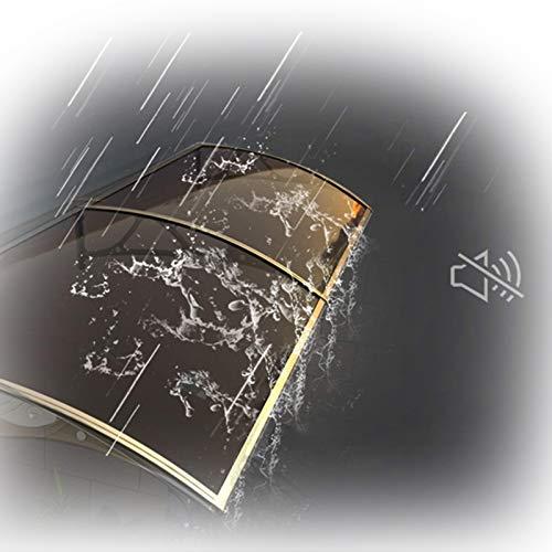 Tejadillo De Protección, Toldo del Dosel De La Ventana De La Puerta Marrón Moderno Cubierta De PC con Soporte De Aleación De Aluminio Protéjase del Sol, La Lluvia (Color : Brown, Size : 60x120cm)