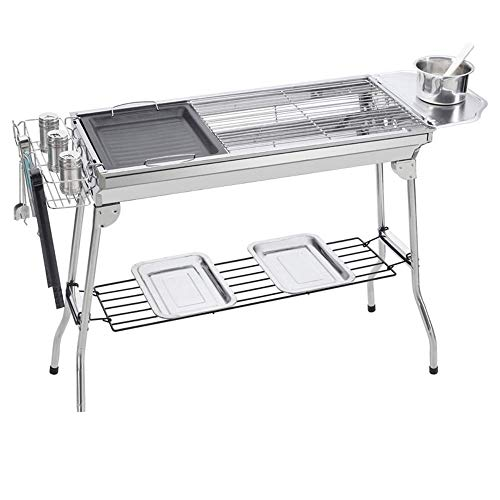 Purchase Nhlzj BBQ Supplies/Barbecue Outdoor Grill Stainless Steel Portable Wood Carbon Smokeless Gr...