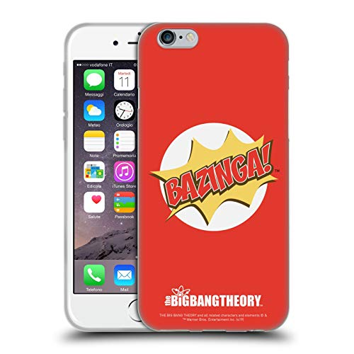 Head Case Designs Licenza Ufficiale The Big Bang Theory Pop Art Bazinga Cover in Morbido Gel Compatibile con Apple iPhone 6 / iPhone 6s