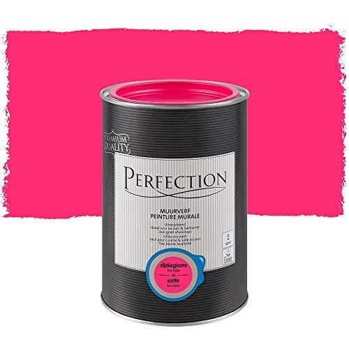 Perfection Einanstrich - Innenwandfarbe - Satin - 63 Fuchsia - 1L - 12m²