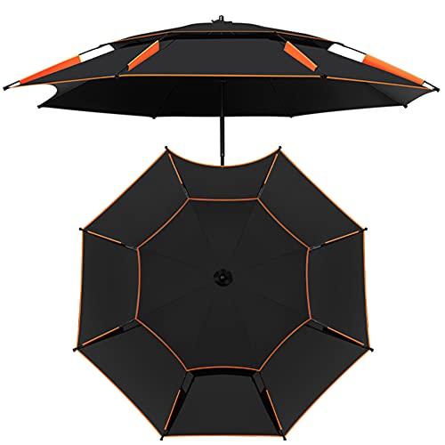 CYY Sombrilla de Patio Al Aire Libre Portátil-inclinación de 360°,Impermeable y Aislamiento Térmico,Resistencia Al 95% de La Luz Solar Dañina,para Jardín Playa Piscina Pescar