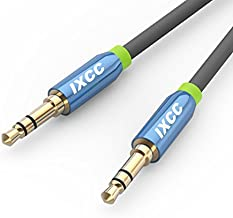 iXCC 3-Ft Tangle-Free Male to Male 3.5mm Auxiliary Cable with Gold Plated Connectors for Apple, Android Smartphones, Tablet and MP3 Players - Standard Packaging